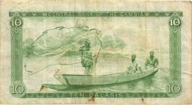 Gambia P.10a 10 Dalasis (1987-90) (3)