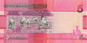 Gambia P.37 5 Dalasis 2019 (1)