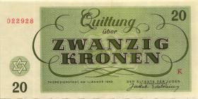 Get-12 Getto Theresienstadt 20 Kronen 1943 (1)