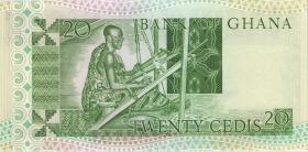 Ghana P.21c 20 Cedis 1982 (1)