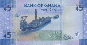 Ghana P.neu 5 Cedis 2017 Gedenkbanknote (1)
