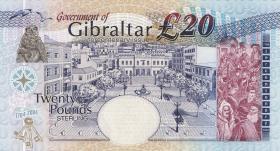 Gibraltar P.31 20 Pounds 2004 Gedenkbanknote (1)
