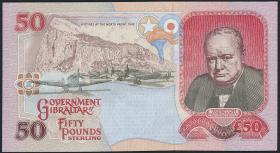 Gibraltar P.28 50 Pounds 1995 Churchill (1)