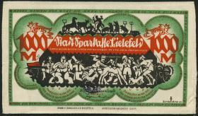 Notgeld Bielefeld GP.25b 1000 Mark 1922 Seide (1)