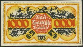 Notgeld Bielefeld GP.26a 1000 Mark 1922 Leinen (1)