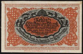 Bielefeld GP.35 10 Millionen Mark 1923 Leinen (1/1-)