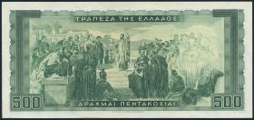 Griechenland / Greece P.193 500 Drachmen 1955 (2)