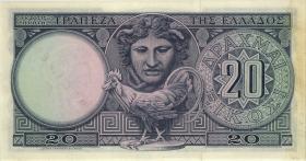 Griechenland / Greece P.187s 20 Drachmen 1954 (1-) Specimen