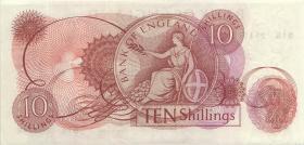 Großbritannien / Great Britain P.373a 10 Shillings (1961-62) (2+)