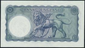 Großbritannien / Great Britain P.372 5 Pounds (1961-63) (1/1-)