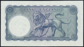 Großbritannien / Great Britain P.372 5 Pounds (1961-63) (2+)