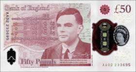 Großbritannien / Great Britain P.397 50 Pounds 2020 Polymer (1)