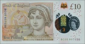 Großbritannien / Great Britain P.neu 10 Pounds 2016 (2017) Polymer (1)