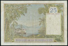 Guadeloupe, Frz. Verw. P.14 25 Francs (1934-1944) (3-)