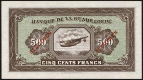 Guadeloupe, Frz. Verw. P.25s 500 Francs (1942) Specimen (1)