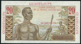 Guadeloupe, Frz. Verw. P.28 20 Francs (1944) (1/1-)