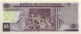 Guatemala P.060b 5 Quetzales 1977 (1)