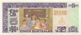 Guatemala P.088a 5 Quetzales 1993 (1)
