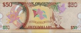 Guyana P.Neu 50 Dollars 2016 Gedenkbanknote (1)