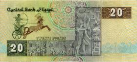 Ägypten / Egypt P.52b 20 Pounds (1978-92) (3+)