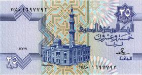 Ägypten / Egypt P.57a 25 Piaster 27.11.(19)89 (1)