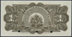 Haiti P.167s 1 Gourde L.1919 Specimen (1)