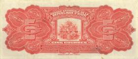 Haiti P.180 5 Gourdes 1919 (2)