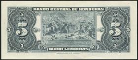 Honduras P.51b 5 Lempiras 1966 (1)