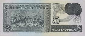 Honduras P.59a 5 Lempiras 1974 (1)