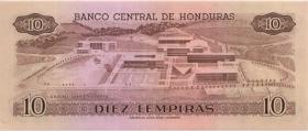 Honduras P.64b 10 Lempiras 1989 (1)