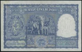 Indien / India P.042a 100 Rupien (ca. 1949-57) (1/1-)
