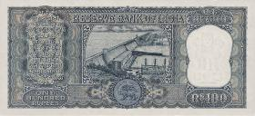 Indien / India P.070a 100 Rupien (1969-70) (1)
