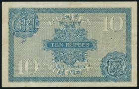 Indien / India P.007a 10 Rupien o.D. Georg V. (3-)