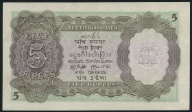 Indien / India P.018b 5 Rupien (1943) (1/1-)