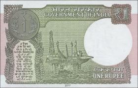 Indien / India P.108b 1 Rupien 2017 (1)