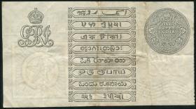 Indien / India P.001e 1 Rupien 1917 (3)