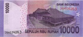 Indonesien / Indonesia P.150b 10.000 Rupien 2011 (1)