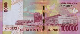 Indonesien / Indonesia P.153f 100.000 Rupien 2016 (1)