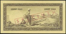 Indonesien / Indonesia P.053s 1000 Rupien (1957) Specimen (3)