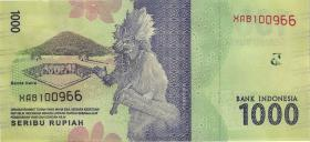 Indonesien / Indonesia P.154b 1000 Rupien 2016 (2018) (1)