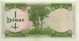 Irak / Iraq P.056 1/4 Dinars (1971) (1)