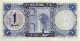 Irak / Iraq P.058 1 Dinar (1971) (2)