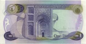 Irak / Iraq P.063b 1 Dinar (1973) ohne arab. Firmennamen (1)