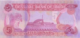 Irak / Iraq P.080c 5 Dinars 1992 (1)