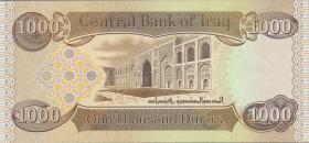 Irak / Iraq P.neu 1000 Dinars 2018 (1)
