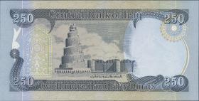 Irak / Iraq P.neu 250 Dinars 2018 (1)