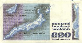 Irland / Ireland P.73c 20 Pounds 1990 (3+)