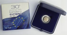Italien 2 Euro 2015 30 Jahre EU-Flagge PP