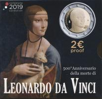 Italien 2 Euro 2019 Leonardo da Vinci PP