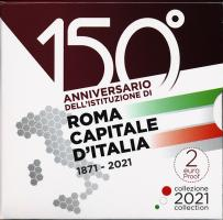 Italien 2 Euro 2021 Rom - 150 Jahre Hauptstadt Italiens PP